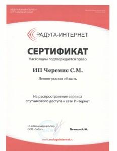 Сертификат Радуга-Интернет №2